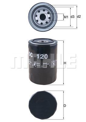 Filtre a huile KNECHT OC 120 (X1)