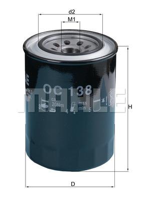 Filtre a huile KNECHT OC 138 (X1)