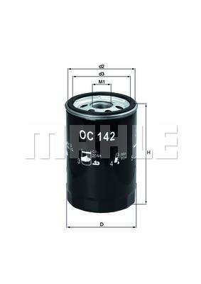 Filtre a huile KNECHT OC 142 (X1)