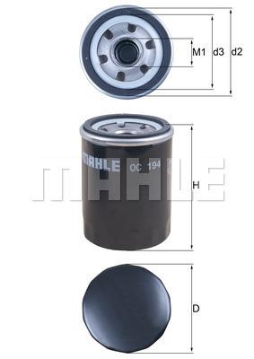 Filtre a huile KNECHT OC 194 (X1)