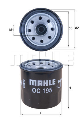 Filtre a huile KNECHT OC 195 (X1)