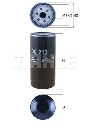 Filtre a huile KNECHT OC 213 (X1)