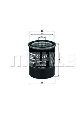 Filtre a huile KNECHT OC 217 (X1)