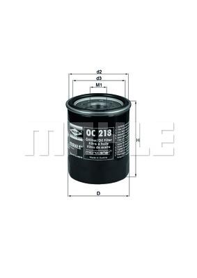 Filtre a huile KNECHT OC 218 (X1)