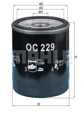 Filtre a huile KNECHT OC 229 (X1)