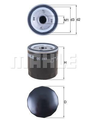Filtre a huile KNECHT OC 243 (X1)