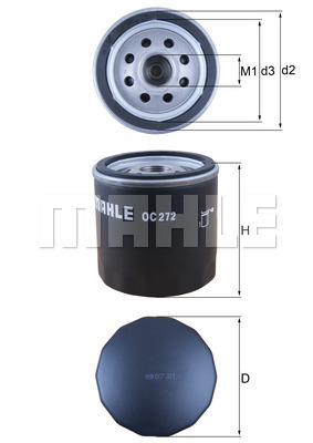 Filtre a huile KNECHT OC 272 (X1)