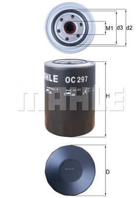 Filtre a huile KNECHT OC 297 (X1)