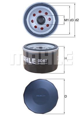 Filtre a huile KNECHT OC 467 (X1)