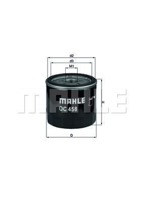 Filtre a huile KNECHT OC 458 (X1)