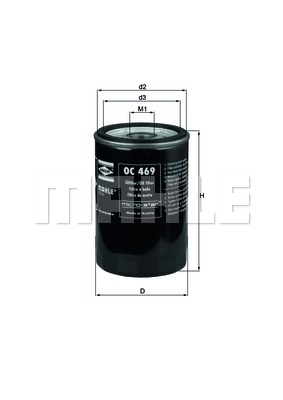 Filtre a huile KNECHT OC 469 (X1)