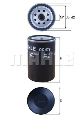 Filtre a huile KNECHT OC 479 (X1)