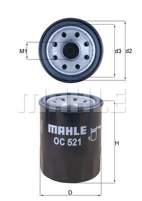 Filtre a huile KNECHT OC 521 (X1)