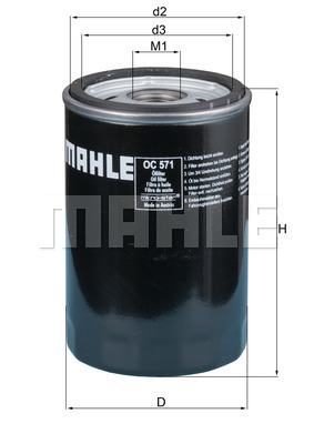 Filtre a huile KNECHT OC 571 (X1)