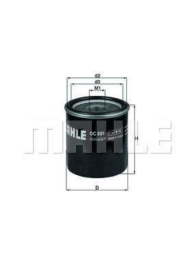 Filtre a huile KNECHT OC 601 (X1)