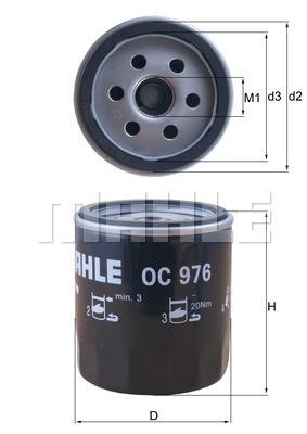 Filtre a huile KNECHT OC 976 (X1)