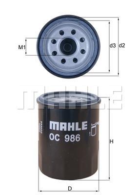 Filtre a huile KNECHT OC 986 (X1)