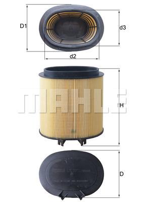 Filtre a air KNECHT LX 2974 (X1)