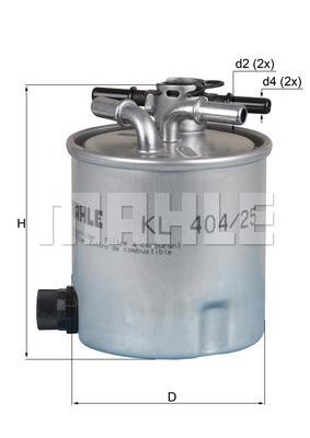 Filtre a carburant KNECHT KL 404/25 (X1)
