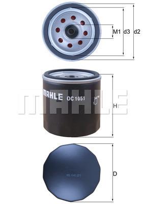 Filtre a huile KNECHT OC 1051 (X1)