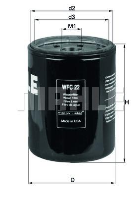Autres filtres KNECHT WFC 22 (X1)