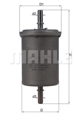 Filtre a carburant KNECHT KL 416/1 (X1)