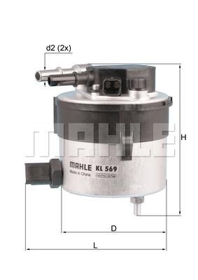 Filtre a carburant KNECHT KL 569 (X1)