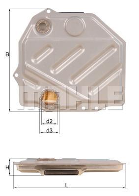 Filtre a huile de boite de vitesse KNECHT HX 48 (X1)
