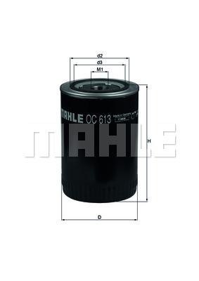 Filtre a huile KNECHT OC 613 (X1)