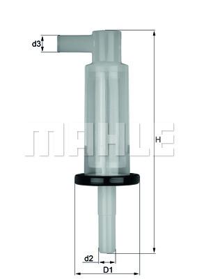 Filtre a carburant KNECHT KL 33 OF (X1)