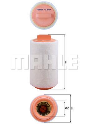 Filtre a air KNECHT LX 3251 (X1)