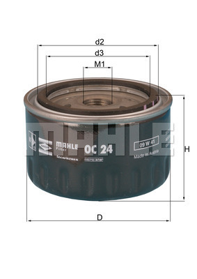 Filtre a huile KNECHT OC 24 (X1)