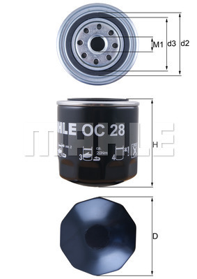 Filtre a huile KNECHT OC 28 (X1)