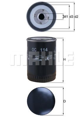 Filtre a huile KNECHT OC 114 (X1)