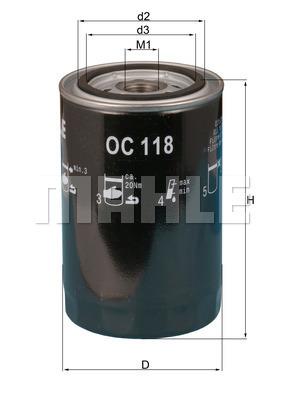 Filtre a huile KNECHT OC 118 (X1)