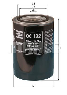 Filtre a huile KNECHT OC 132 (X1)