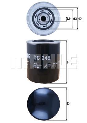 Filtre a huile KNECHT OC 248 (X1)