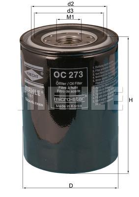 Filtre a huile KNECHT OC 273 (X1)