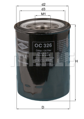 Filtre a huile KNECHT OC 326 (X1)