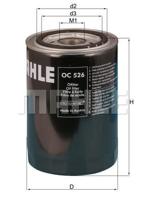 Filtre a huile KNECHT OC 526 (X1)
