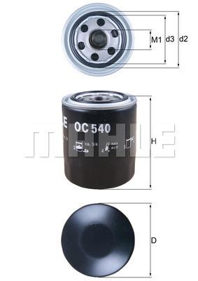 Filtre a huile KNECHT OC 540 (X1)