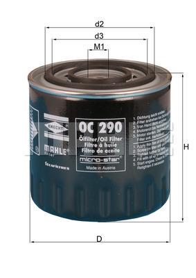 Filtre a huile KNECHT OC 290 (X1)
