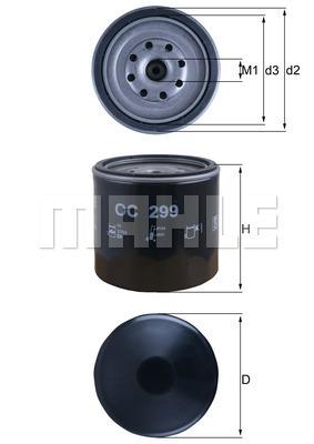 Filtre a huile KNECHT OC 299 (X1)