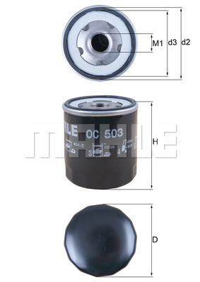 Filtre a huile KNECHT OC 503 (X1)
