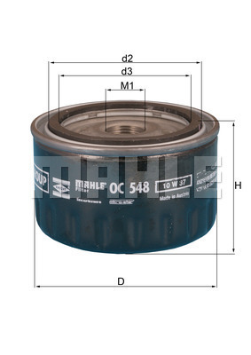 Filtre a huile KNECHT OC 548 (X1)