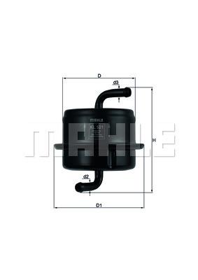 Filtre a carburant KNECHT KL 521 (X1)