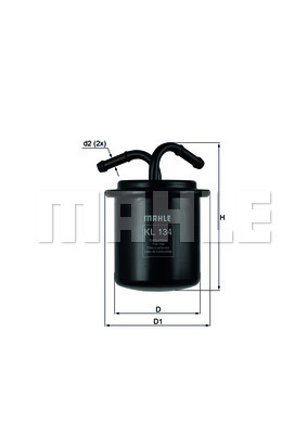 Filtre a carburant KNECHT KL 134 (X1)