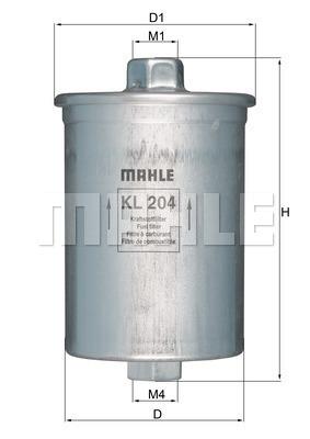 Filtre a carburant KNECHT KL 204 (X1)