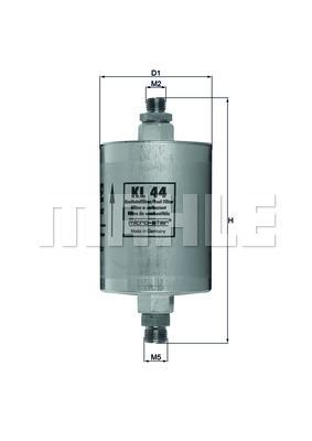 Filtre a carburant KNECHT KL 44 (X1)