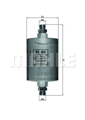 Filtre a carburant KNECHT KL 40 (X1)